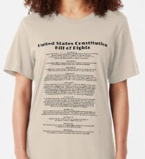 Bill of Rights, US Constitution Slim Fit T-Shirt