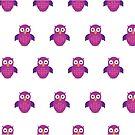 Purple & Purple Owl (Pattern) by Adam Santana