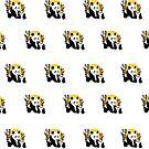 Pandas - Father & Son (Pattern) by Adam Santana