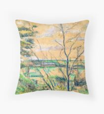 """Paul Cézanne """"In the Oise Valley"""" Throw Pillow"""