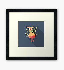 Droll Monster Framed Print