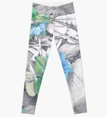 Blue Flowers Leggings