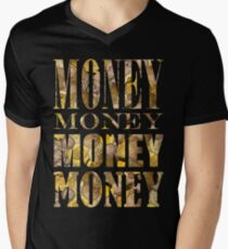 MONEY SQUARE Mens V-Neck T-Shirt