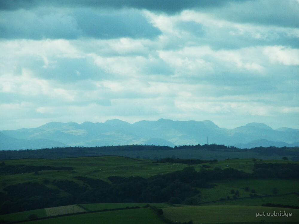 Distant Mountains by pat oubridge