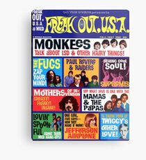 Freak Out USA Magazin Cover Herbst 1967, Affen, Supremes, Paul Revere, Mamas & The Papas ... Metallbild