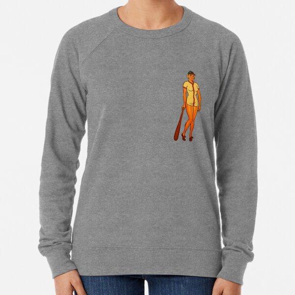 Vintage Pinup Baseball Player Lightweight Sweatshirt