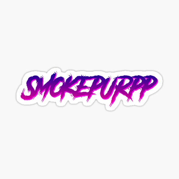 Smokepurpp hiphop trap sticker retro design Sticker
