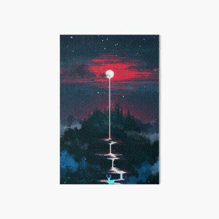 Lunar Dripping Art Board Print