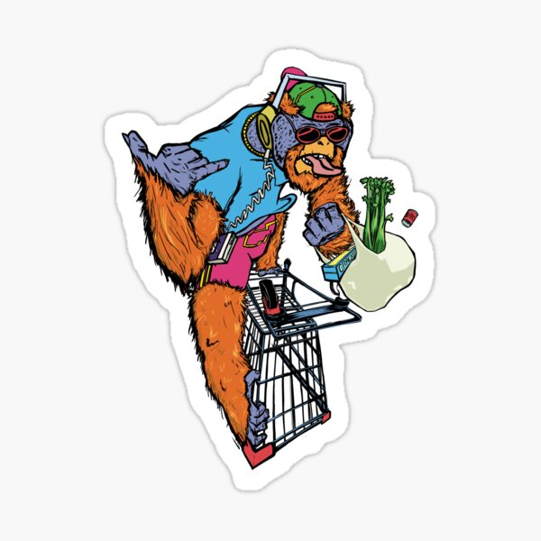 Trolley Ape - Dresses, Cases, and Other Stuff Sticker