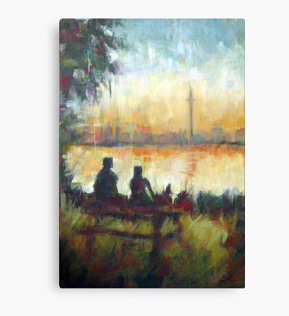Toronto's Centre Island: Modern Impressionist semi-abstraction painting Canvas Print