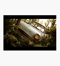 """The """"Flying"""" Ford Anglia Photographic Print"""