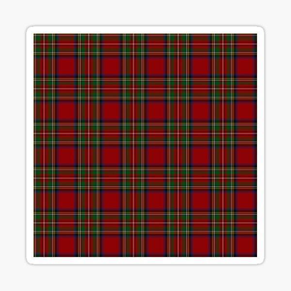 The Royal Stewart Tartan Stuart Clan Plaid Tartan Sticker