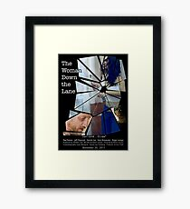 Movie Poster, The Woman Down the Lane Framed Print
