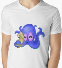 Cute Dark Blue Octopus with Teddy Bear T-Shirt