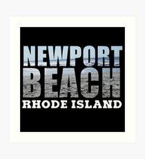 Newport Beach Rhode Island Art Print
