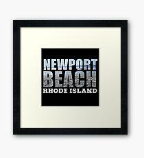 Newport Beach Rhode Island Framed Print