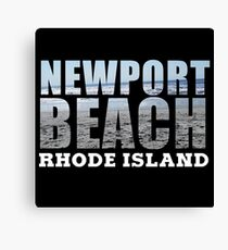 Newport Beach Rhode Island Canvas Print