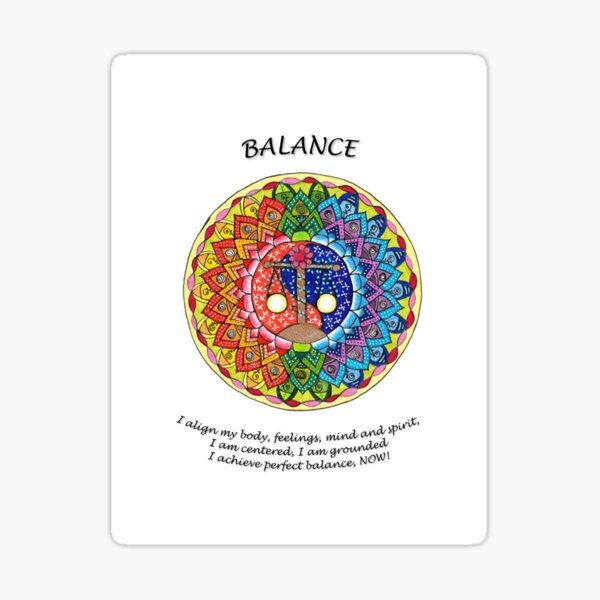 Balance Mandala (Affirmation) Sticker