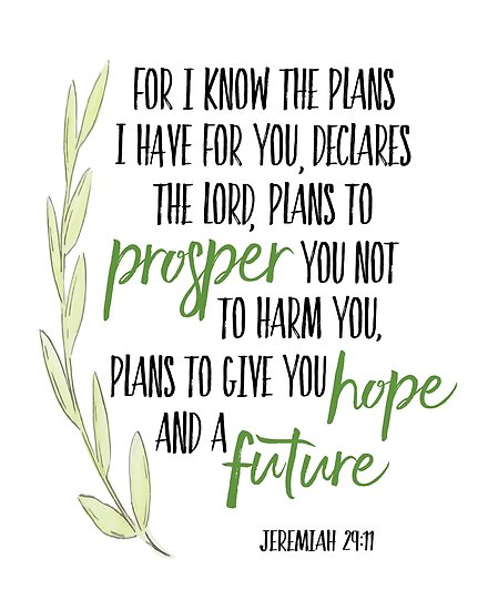 For I Know The Plans I Have For You Posters By Kathleen Johnson