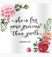 She is far more precious than jewels Poster