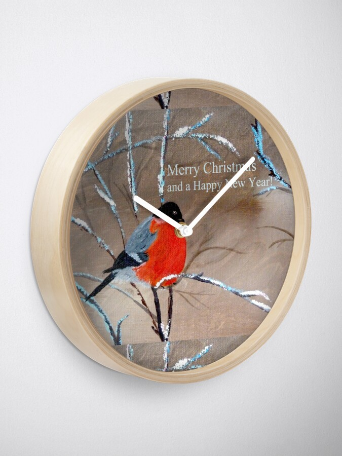 Alternate view of Bullfinch. Merry Xmas and a Happy New Year! Clock