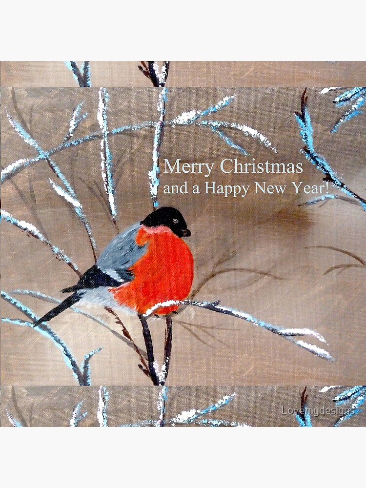 Bullfinch. Merry Xmas and a Happy New Year! by Lovemydesigns
