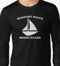 Newport Beach Sailboat Long Sleeve T-Shirt