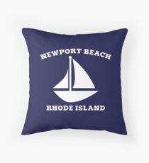 Newport Beach Sailboat Throw Pillow