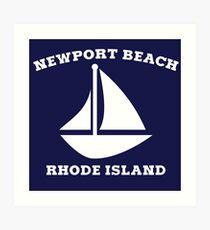 Newport Beach Sailboat Art Print