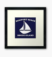 Newport Beach Sailboat Framed Print