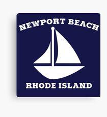 Newport Beach Sailboat Canvas Print