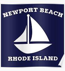 Newport Beach Sailboat Poster