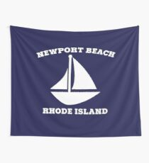 Newport Beach Sailboat Wall Tapestry