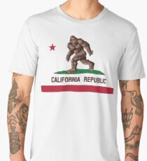 Bigfoot California Flag Men's Premium T-Shirt
