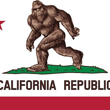 Bigfoot California Flag by mmdesigns