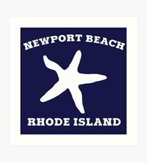 Newport Beach Starfish Art Print