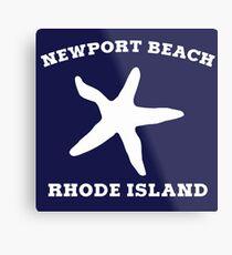 Newport Beach Starfish Metal Print
