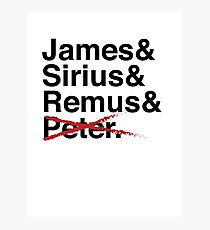 James & Sirius & Remus & X. Photographic Print