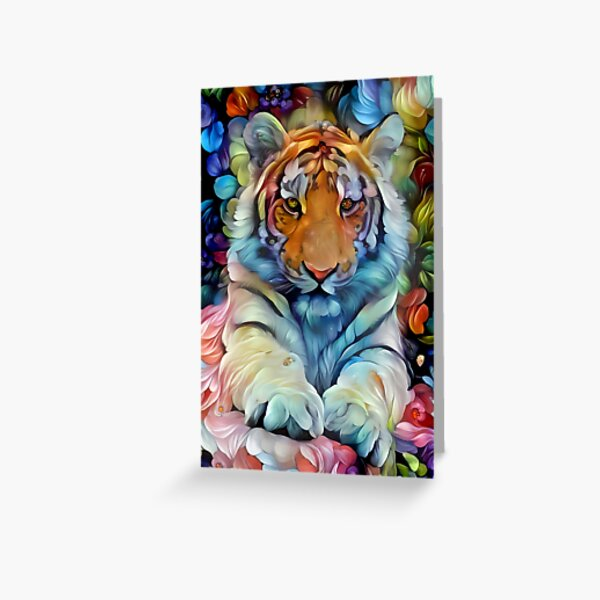 Painted Tiger Greeting Card