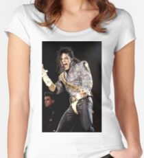 MICHAEL JACKSON - 1992 Women's Fitted Scoop T-Shirt