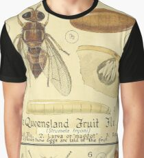 The Queensland Fruit Fly-The Mediterranean Fruit Fly Graphic T-Shirt