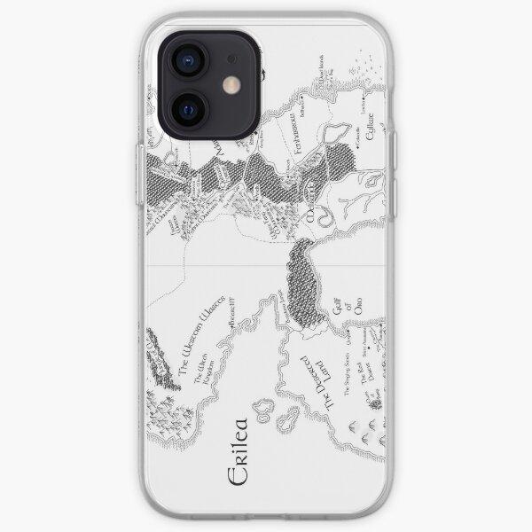 Erilea Throne of Glass Map iPhone Soft Case