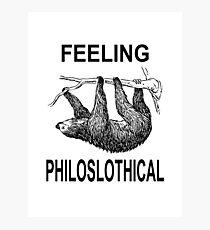 Feeling Philoslothical Photographic Print
