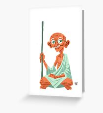 Mahatma Gandhi Greeting Card