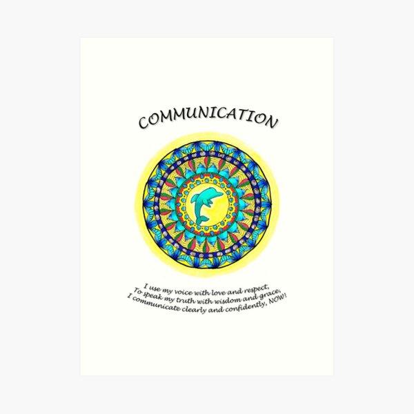 Communication Mandala (affirmations) Art Print