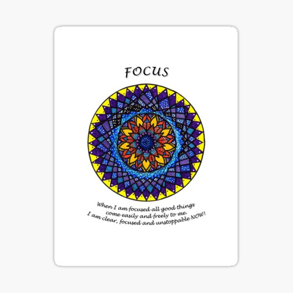Focus Mandala (affirmation) Sticker