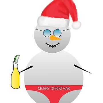 Christmas Snowman by hayleylauren