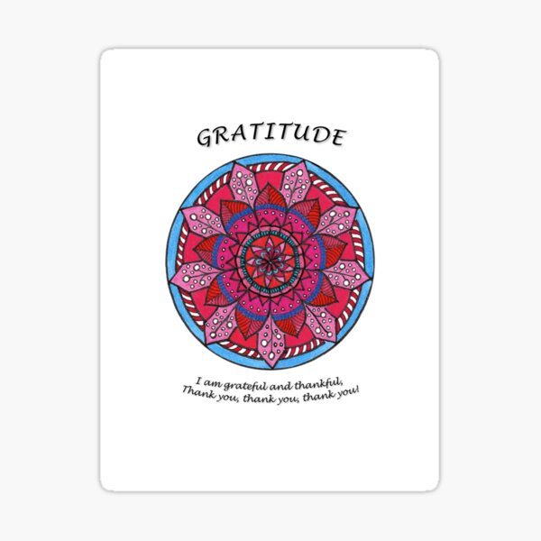 Gratitude Mandala (affirmation) Sticker