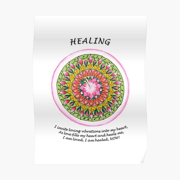 Healing Mandala (affirmation) Poster