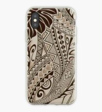 Vinilo o funda para iPhone Ornamento hawaiano - Beige